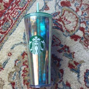 Starbucks venti green mermaid iced drink cup